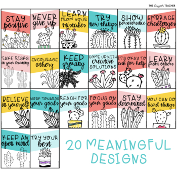 Growth Mindset Posters {Cactus Theme}