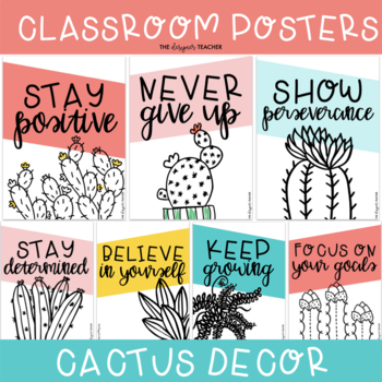 Growth Mindset Posters | Cactus Posters