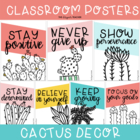 Growth Mindset Classroom Posters {Cactus Theme}