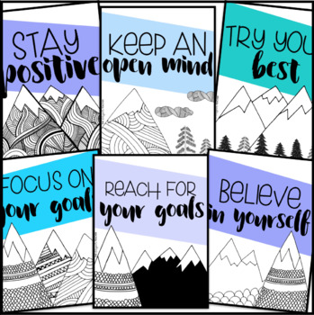 Growth Mindset Posters {Mountain Theme}