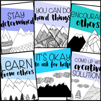 Growth Mindset Posters | Mountain Posters