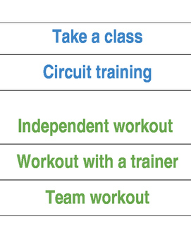 Growth Mindset Classroom Terms Explanations - Workout Theme