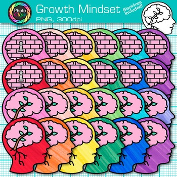 Growth Mindset Clip Art {Psychology and Cognition Graphics for Resources}