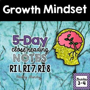 Growth Mindset Close Reading
