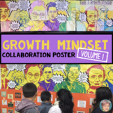 """Famous Faces"" Growth Mindset Poster Volume 1 - Great Collaborative Activity!"