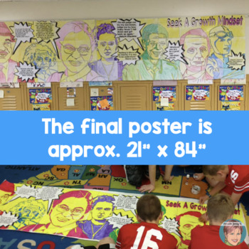 Famous Faces™ Collaborative Growth Mindset Poster | Fun New Years Activity 2019