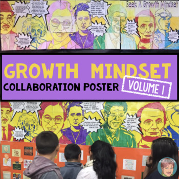 Famous Faces® Collaborative Poster | Growth Mindset Poster (Volume 1)