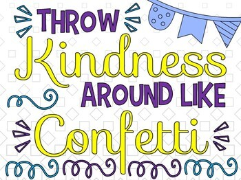 Growth Mindset Collaborative Poster!  Team Work Activity - Throw Kindness