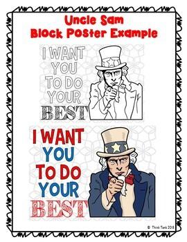Growth Mindset Collaborative Poster!  Team Work - Uncle Sam