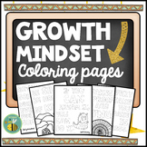 Growth Mindset Coloring Pages. Distance Learning