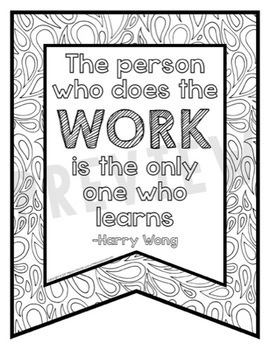 Growth Mindset Coloring Banners {36 Full-Page Banners}