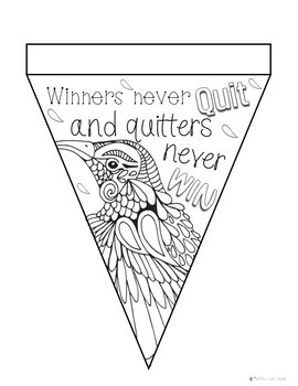 Growth Mindset Coloring Banners Stress Management Test Anxiety
