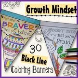 Growth Mindset Coloring Banners Stress Management Motivation