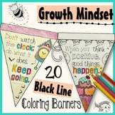 Growth Mindset Coloring Banners Set #3 Stress Management Testing Motivation