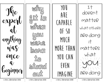 Growth Mindset Coloring Bookmarks #2