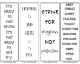 Growth Mindset Coloring Bookmarks #3