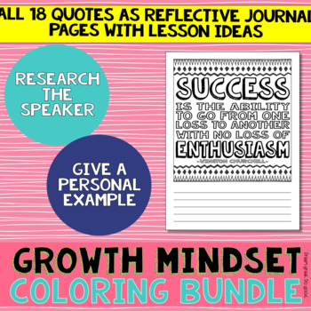 Growth Mindset Coloring FREEBIE!- Thomas Edison poster and journal page