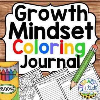 Growth Mindset Coloring Journal No Prep Printables (Grades 3-6)