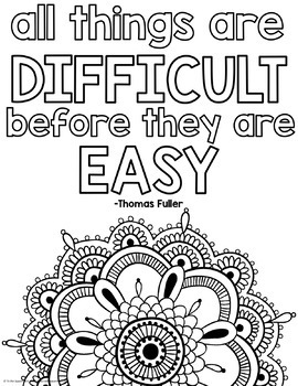 growth mindset coloring pages - Coloring The Pictures