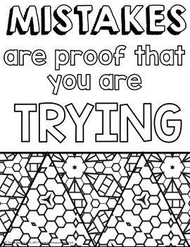 Awesome Growth Mindset Coloring Pages