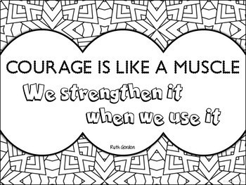Growth Mindset Coloring Posters