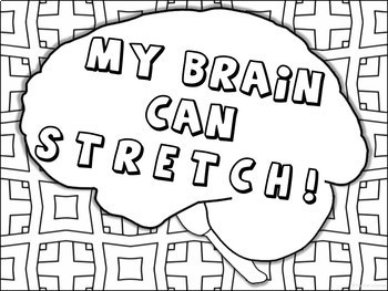 Growth Mindset Coloring Pages Posters