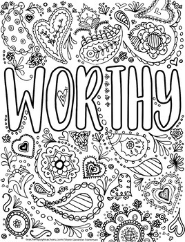 Growth Mindset Coloring Pages | Adult Coloring Pages