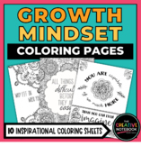 Distance Learning   Growth Mindset Coloring Pages   Adult