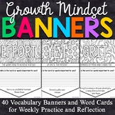 40 Growth Mindset  Coloring Banners