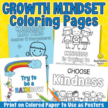 Growth Mindset Coloring Pages - Back to School Kindness Bulletin Board Activity
