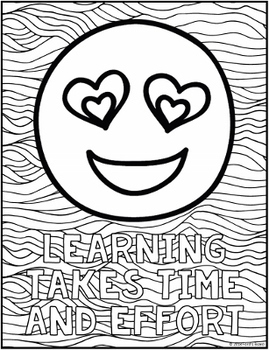 Growth Mindset Coloring Pages (Emoji Theme) - 10 Fun, Creative Designs!