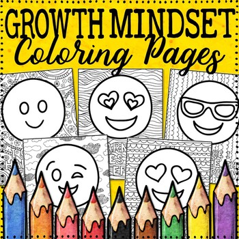 Growth Mindset Coloring Pages | Emoji Theme | 10 Fun, Creative Designs