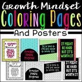 Growth Mindset Coloring Pages & Posters (20 Motivational P