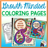 Growth Mindset Coloring Pages Posters - Paisley Theme