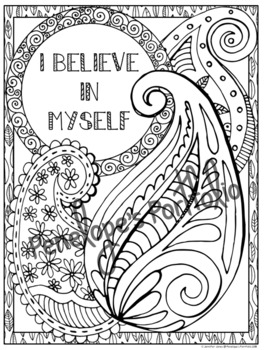 Growth Mindset Activity:  Growth Mindset Coloring Pages