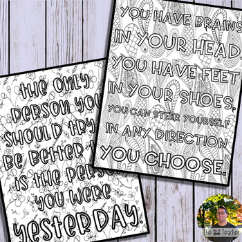 Growth Mindset Coloring Pages (Set 1)
