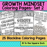 Growth Mindset Coloring Pages- Set 2