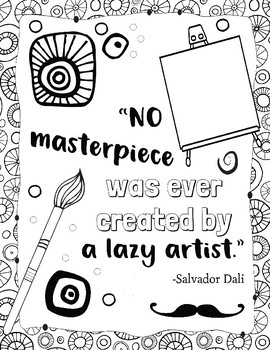Growth Mindset Coloring Pages, Set #2: The Art Class ...