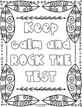 Test Motivation Coloring Pages | 8 Fun Doodle Designs