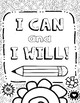 Growth Mindset Coloring Pages for Mindfulness, Set #1