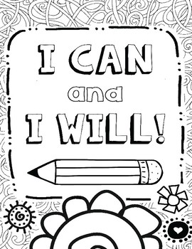 Growth Mindset Coloring Pages for Mindfulness, Set #1 by ...