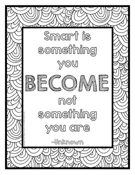 Growth Mindset Coloring Posters 36 8 5x11 Coloring Pages