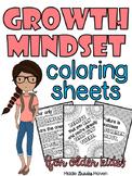 Growth Mindset Coloring Sheets-For Older Kids