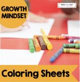 Growth Mindset Coloring Sheets - Set of 12 printable superhero sheets
