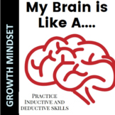 Growth Mindset Comparison Activity for inductive and deductive reasoning skills
