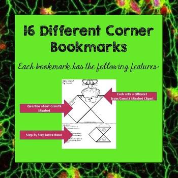 Growth Mindset Corner Bookmarks