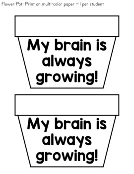 Growth Mindset Craft - Our Brains are Growing