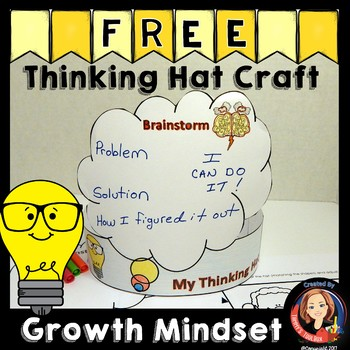 Growth Mindset Craft Thinking Hat