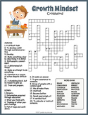 Growth Mindset Crossword Puzzle Worksheet