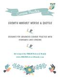 Growth Mindset Cursive Practice Pack